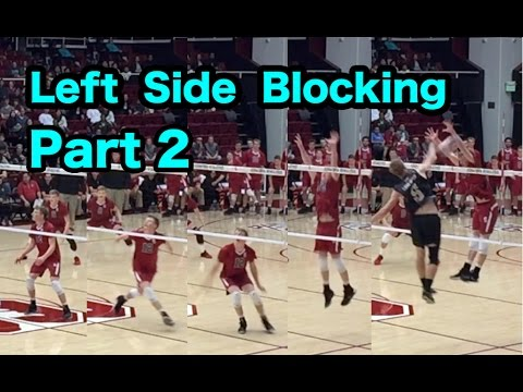 Outside Hitter Blocking Technique (part 2/2) - How To Block A Volleyball Tutorial