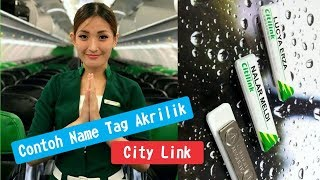 Name tag magnet maskapai penerbangan City Link I Vegasindo Card Plus