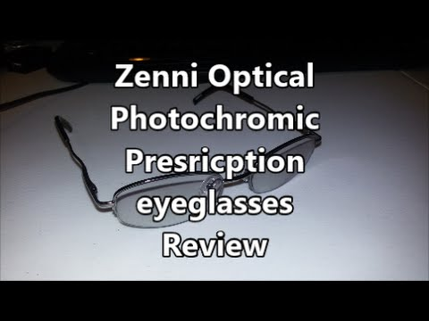Zenni Optical Photochromic Prescription eyeglasses Review
