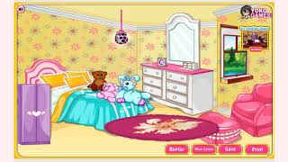 How to play Girly Room Decoration Game game | Free online games | MantiGames.com