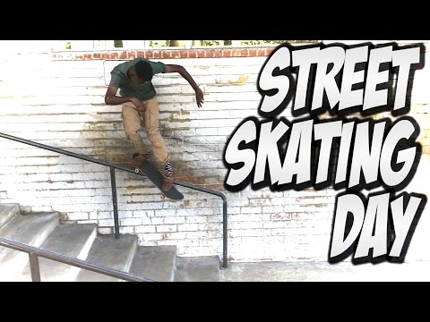 AMAZING SKATING IN THE STREETS !!! - A DAY WITH NKA -