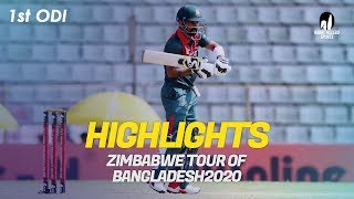 Highlights | Bangladesh vs Zimbabwe | 1st ODI | Zimbabwe tour of Bangladesh 2020