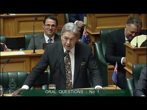 Question 1 - Rt Hon Bill English to the Prime Minister