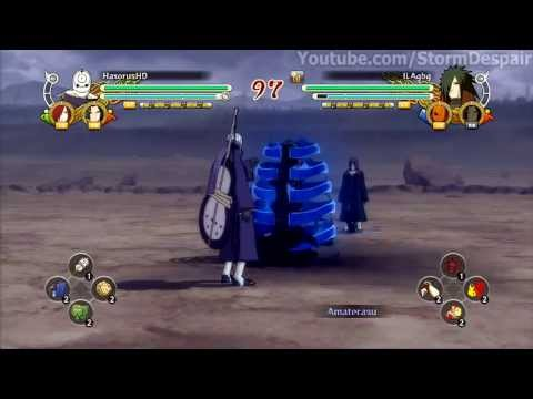 Naruto Storm 3 Tobi Rinnegan Vs Madara video