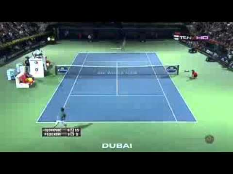 Amazing points:Roger Federer vs Novak Djokovic ATP 500 dubai 2014 SF  HD
