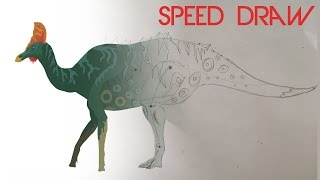 Corythosaurus - Speed Draw on Pivot