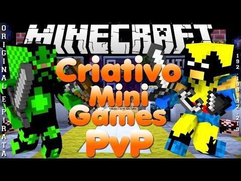 Divulgação de Server Minecraft 1.6.4 Criativo. Survival e Minigames [Pirata e Original]