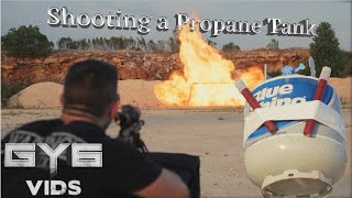 Shooting a Large Propane Tank in SLOW MOTION