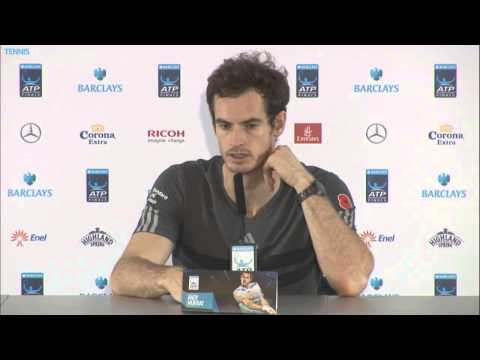 London Finale 2014 Thursday Interview Murray