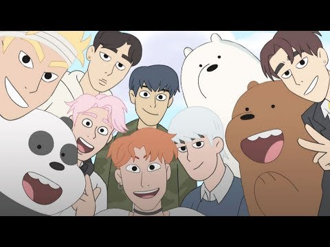K-POP INVADES WE BARE BEARS (Monsta X)