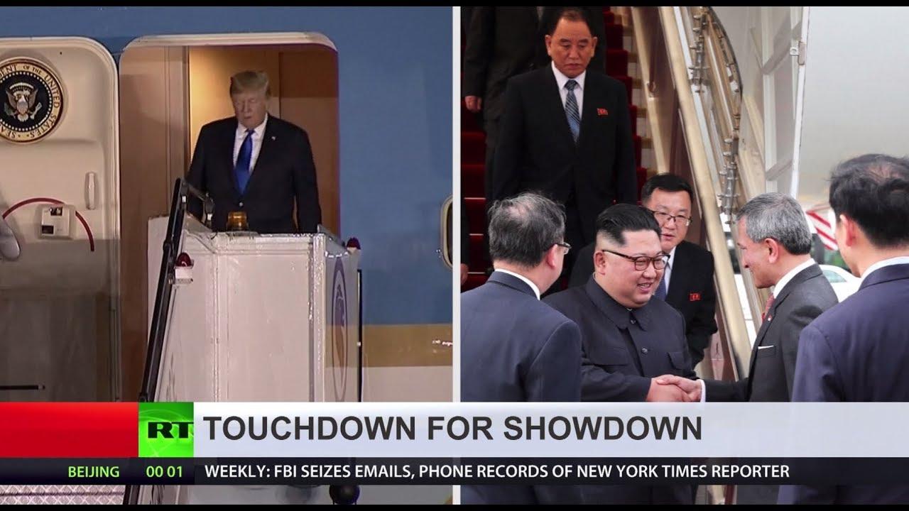 Trump, Kim arrive in Singapore for historic summit
