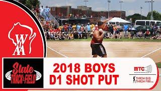 2018 WIAA D1 BOYS SHOT PUT