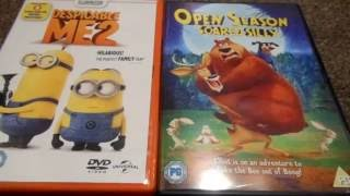 Despicable Me 2 And Open Season Scared Silly (UK) DVD Unboxing