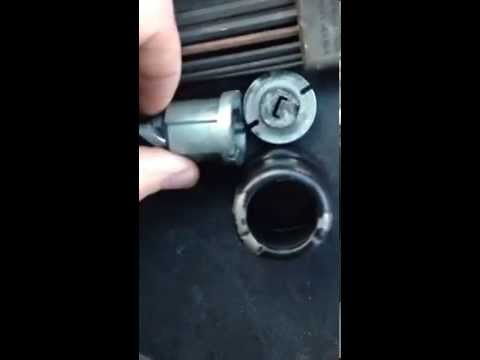 Mercedes Benz w124 key tumbler removal.