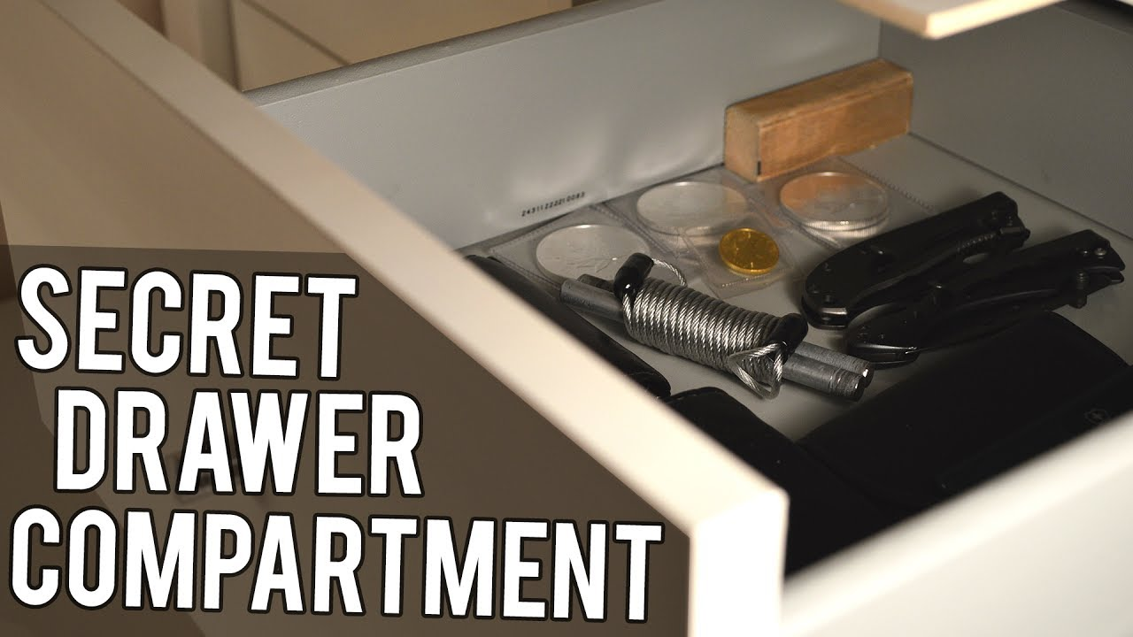 How To Make A Secret Drawer Compartment Youtube