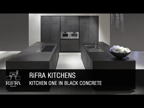 RIFRA Kitchen ONE in black concrete