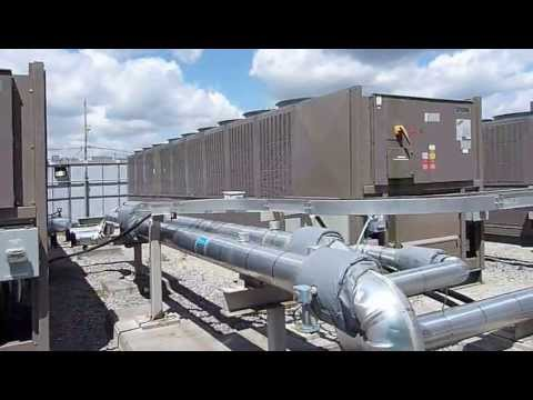 5 York Air Cooled Screw Chillers 350 Ton Model