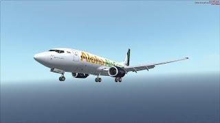 Aloha Air Cargo, Boeing 737 PMDG, Landing at PHKO Runway 17, [HD, FSX, REX, FSDT]