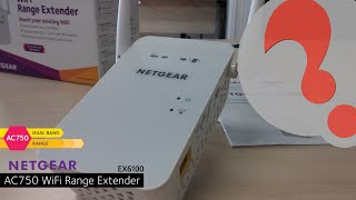 Netgear EX6100 AC750 wifi range extender - How to Setup and install