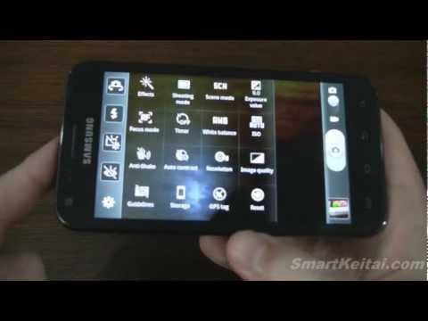 Sprint Samsung Galaxy S II camera features and settings (Epic 4G Touch)