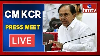 CM KCR Press Meet LIVE | Coronavirus Alert | Telangana Lockdown | hmtv