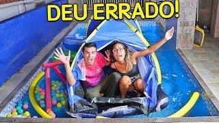 PASSAMOS UMA NOITE NA PISCINA! (DEU ERRADO) - KIDS FUN