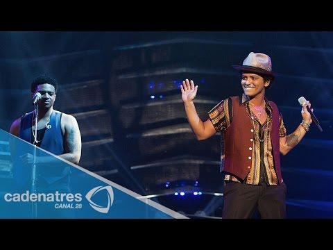 Bruno Mars enloquece a su fans durante concierto