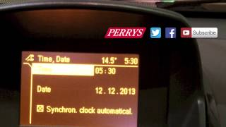 How to change the time and date on a Vauxall Corsa (2013 on)