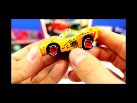 CARS Toy Lightning McQueen Ambulance Mater and Fire Department Red Takara Tomy Rescue Go Go