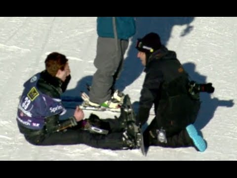 Shaun White Crash SNB Slope Olympic Qualifier #3 - U.S. Snowboarding