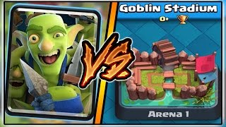 GOBLIN GANG TROLLING ARENA 1 IN CLASH ROYALE | TROLLING AND FUNNY MOMENTS