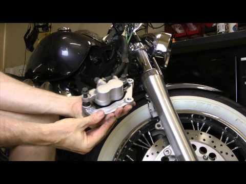 Replace Front Brake Pads On Yamaha V-Star 1100 Custom