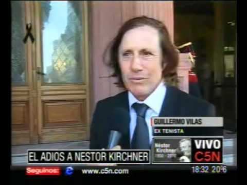 C5N ÚLTIMO ADIÓS A NÉSTOR KIRCHNER: HABLA GUILLERMO VILAS