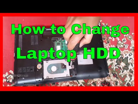 How to Change Your Laptop Hard Disk Drive at home