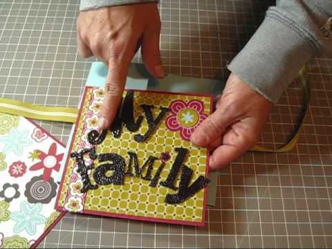 Flip Book Mini Scrapbook Album tutorial