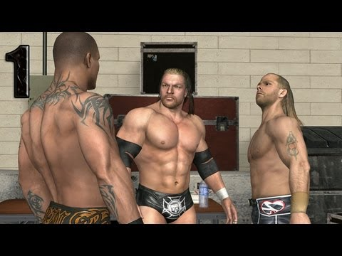 WWE Smackdown vs Raw 2009 TRIPLE H PART 1 ROAD TO WRESTLEMANIA