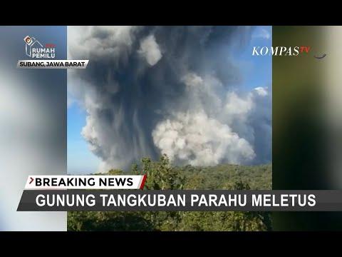 BREAKING NEWS – Gunung Tangkuban Parahu Erupsi, Kolom Abu Capai 200 Meter