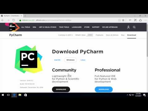 Installing Python 3 and PyCharm in Win 10