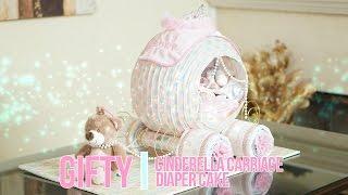 Cinderella Carriage Diaper Cake...