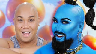 DISNEYS ALADDIN GENIE MAKEUP TRANSFORMATION | PatrickStarrr