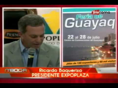 Rueda de prensa sobre organización feria de Guayaquil 2013