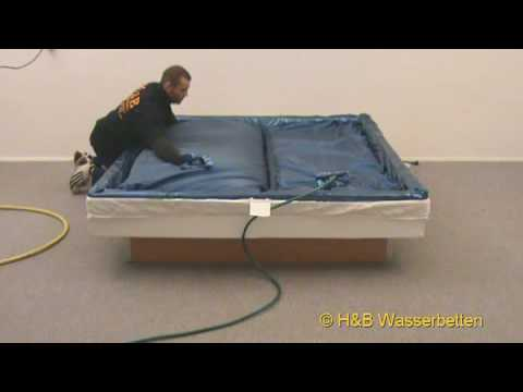 aufbau wasserbett matratzen bef llung youtube. Black Bedroom Furniture Sets. Home Design Ideas