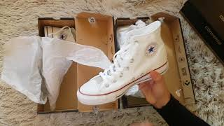 """Converse """"Chuck Taylor"""" All Star shoes Unboxing and incredible fake vs. original"""
