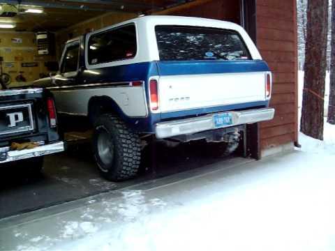Cold start jump start of my 1978 ford bronco xlt ranger for Garage ford 78 plaisir