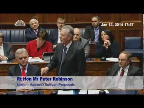 Peter Robinson: Assembly Debate on Haass Proposals