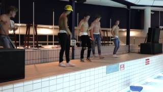 B-Brave Pool Part Nieuwegein Last 2 songs shirtless.