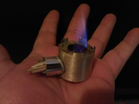 World's smallest Rocket Stove NEW 2012