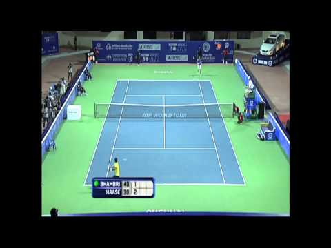 ACO 2013 - Day 1 Match 2 Highlights - Robin Haase (NED) vs Yuki Bhambri (IND)