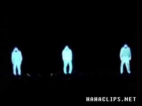 Glow in the Dark illusion dancing Video