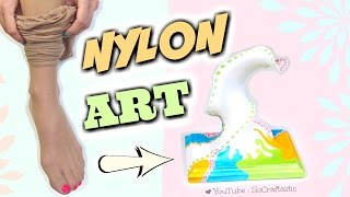 PANTYHOSE into ART!? DIY Nylon Sculpture - Transform Ripped Stockings How To